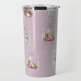 Christmas Pattern Pink Travel Mug