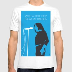 No069 MY JOE COCKER Minimal Music poster Mens Fitted Tee X-LARGE White