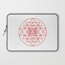 Shree Yantra detail, sacred geometry, yoga art Laptop Sleeve