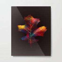 Rainbow Leaf Metal Print