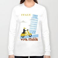 italy Long Sleeve T-shirts featuring Italy by Laurel Natale