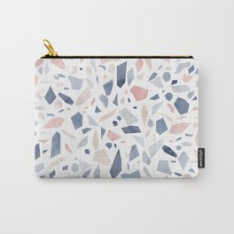 Terrazzo vintage pastel blue pink Carry-All Pouch