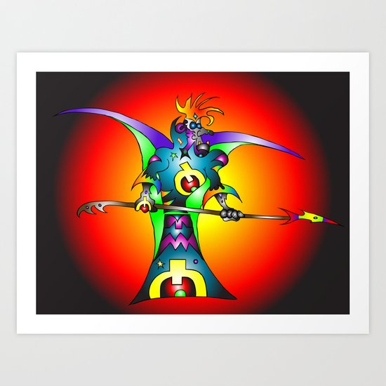 Dekari Warrior Art Print