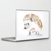 hedgehog Laptop & iPad Skins featuring Hedgehog by Susan Windsor