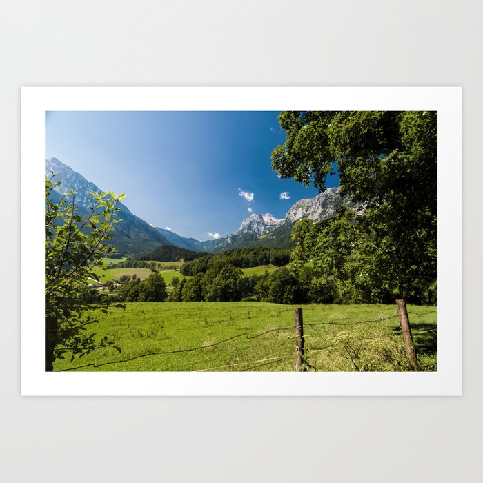 Summerday in the mountains #Society6 Art Print