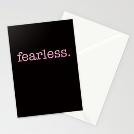 fearless. pink. Stationery Cards