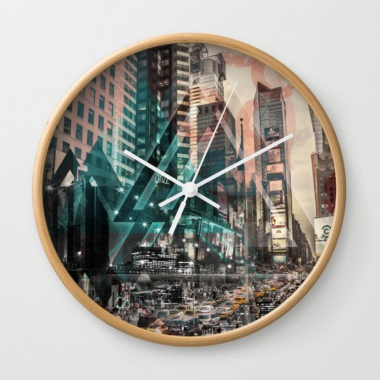 New York City | Geometric Mix No. 4 Wall Clock
