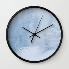 Frozen trees Wall Clock