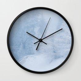 Frozen trees Wall Clock