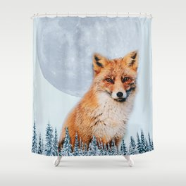 the fox and the moon Shower Curtain