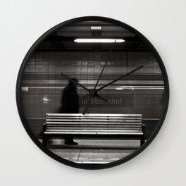 """GHOSTTRAIN of Berlin """"VACANCY"""" zine Wall Clock"""