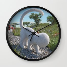Fluffy Wall Clock