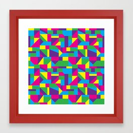 Stricly Colorful Framed Art Print