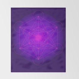 Metatron | Cube | Secret Geometry | Platonic | Matrix | Protects children Throw Blanket