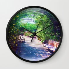 Rosy Bower Wall Clock