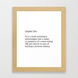 Chapter One - White Framed Art Print