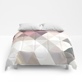 PINK AND GREY Comforters
