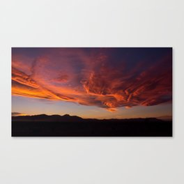 Desert Sky on Fire Canvas Print