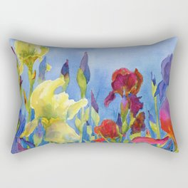 Blue Skies and Happiness Rectangular Pillow