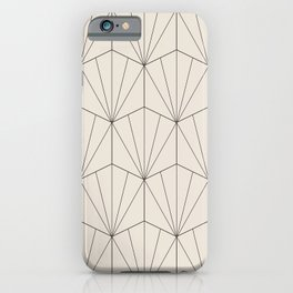 Gisela Geometric Line Pattern - Black & White iPhone Case
