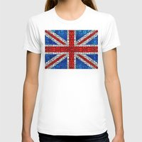 british flag T-shirts featuring British Flag - Brittain England Stone Rock'd Art by Sharon Cummings