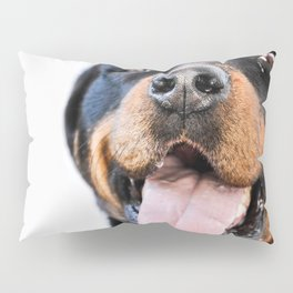 Happy rottweiler Pillow Sham