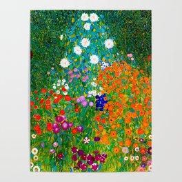 Gustav Klimt - Flower Garden Poster
