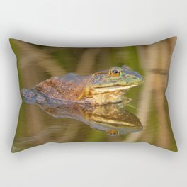 Bullfrog Reflections at Sunset by Reay of Light Photography Rectangular Pillow