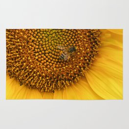 The Abundant Honey Bee and Sunflower Rug