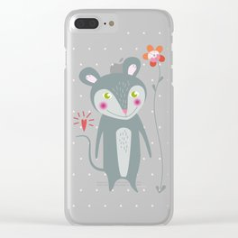 Little Mouse Clear iPhone Case