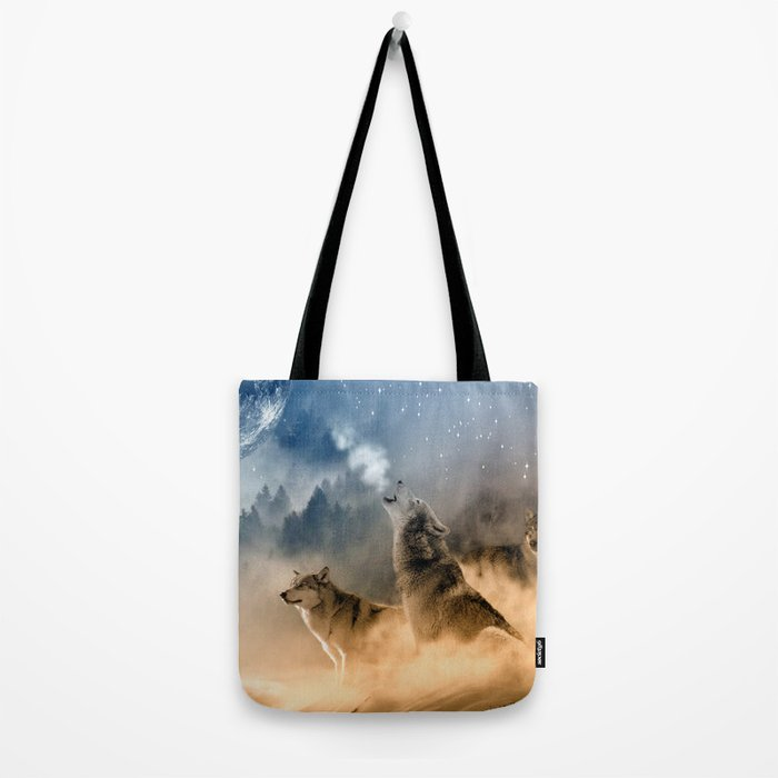 Fantasy Wolf Wolves Animal Tote Bag