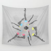 dancer Wall Tapestries featuring Break Dancer by jerbing