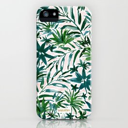 PLEASING PALMS Blush Tropical Leaves iPhone Case