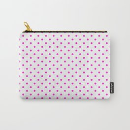 Dots (Hot Magenta/White) Carry-All Pouch