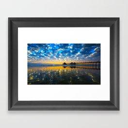 Huntington Beach Sunset   12/17/13   Framed Art Print