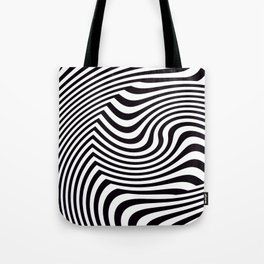 Black and White Pop Art Optical Illusion Tote Bag