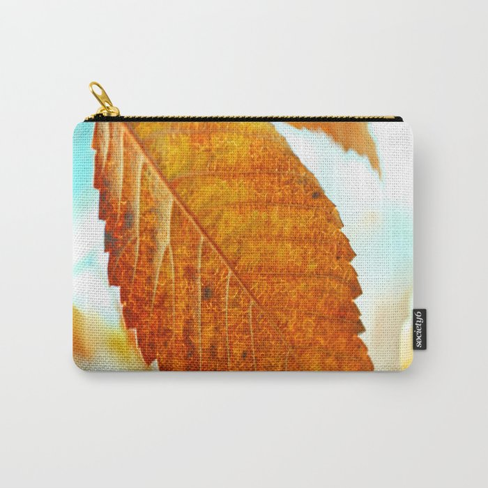 Orange Leaf Carry-All Pouch