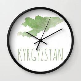 Kyrgyzstan Wall Clock