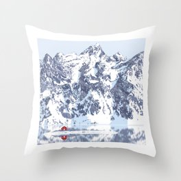 Little Red House Under the Cervino Throw Pillow