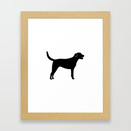 Black Labrador Retriever Silhouette #society6 #decor #buyart #artprint Framed Art Print