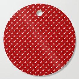 COFFEE CUPS ON RED Cutting Board