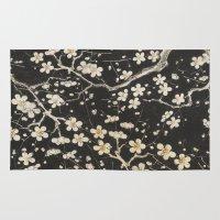 sakura Area & Throw Rugs featuring Sakura by Paula Belle Flores