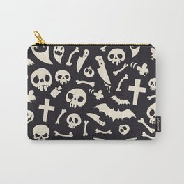 Halloween Symbols Pattern Contrast Carry-All Pouch