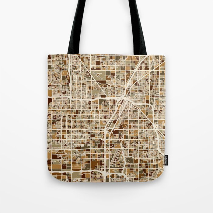 Las Vegas City Street Map Tote Bag