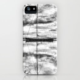 Silver Sailboat iPhone Case