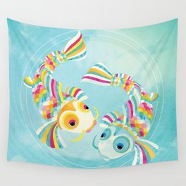 Audrey and Cooper the koi Wall Tapestry