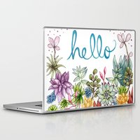 spring Laptop & iPad Skins featuring hello spring by Brooke Weeber
