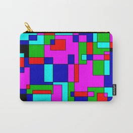 rectangles on black -a- Carry-All Pouch