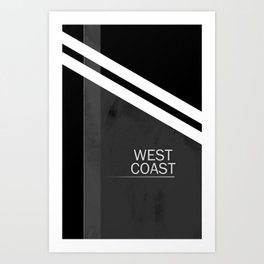 WEST COAST. Art Print