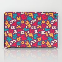 korean iPad Cases featuring Korean alphabet pattern by Sudjino